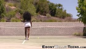 Ebony Hottie Kylie Page Fucked While Kneeling On The Floor