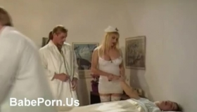 Busty Nurse Is Always Fucking Her Patients Who Came In The Hospital, Because She Likes Them A Lot