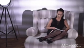 Tattooed Mom, Sophia Leone Is Riding A Big, Black Dick On The Grass, While In The Forest