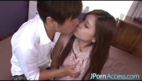 Kinky Japanese Chick Is Having Sex With Her Lover And A Guy Who Are Both Sharing Her Dildo