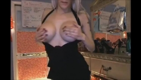 Petite Blonde Knows How To Clean The Kitchen With Her Mouth And Getting A Horny Guy To Fuck Her