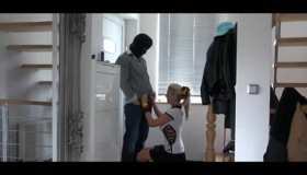 Intense German Blonde Teen Is Cuckolding Her Man With A Super Horny Delivery Guy