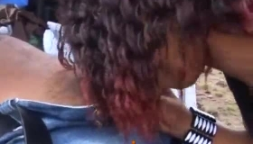 Ebony Brunette With Big Tits Wants To Get A Dick Up Her Ass, Until She Cums