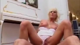 Mature Blonde Is Getting Her Lover's Huge Cock While Her Husband Is At Home With Her