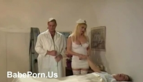 Horny Nurse Was Caught Making Love With A Patient, Because Her Pussy Was Soaking Wet