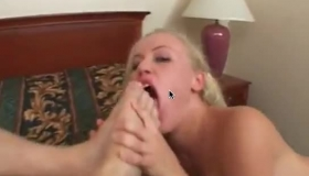 Frustrated Blonde Sucks Dick Knowing How To Satisfy Her Boyfriend In A Great Fisting Video