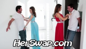 Stunning Prom Lady Giving Rides To Three Guys