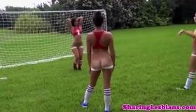 Hot Ebony Soccer Players Giving Head