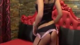 Sexy Brunette Strips Off And Masturbates