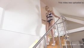 Czech Interracial Blonde Show Pussy And Ass