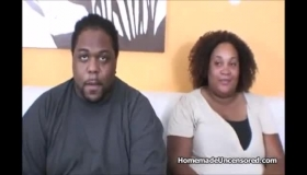 Fat, Ebony Woman Is Cheating On Her Partner With A Blue- Eyed Guy From Their Neighborhood