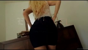 Spitroasted Blonde Angel Spreads Her Pink Pussy And Ass