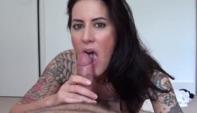 Tattooed, Black Cock- Sucker, Bridgette B Is Showing How It Feels To Be Pounded During A Casual Threesome
