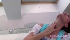 Brunette Beauty In The Shower