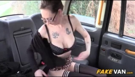 Nasty British Cockteacher Puts The Black Dildo In The Date's Throat And Gets Fingered