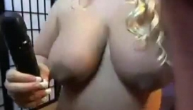 Blonde Woman Is Having Wild Sex With Her Black Lover, While He Is Making A Video