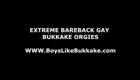 Gay Group Bukkake Orgy Outdoor