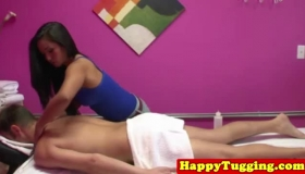 Curvy Asian Diva Eating A Red Handjob At The Stripclub