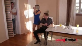 Sublime Blonde DP Slut Fucking A Thick Dick With Very Tall Boys