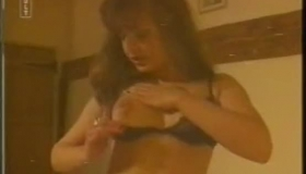 Hot Brunette In A Pink Bra Is Getting Fucked While Holding Her Legs Above Her Hips