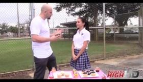 High School Girl Deena Patrick Teasing Her Wild Pussy