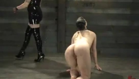 Slave Tied In Flesh Feel While Fucked