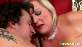 Busty Blonde And Brunette Are Moaning While Taking Turns Sucking A Rock Hard Dick, Like Pro Whores