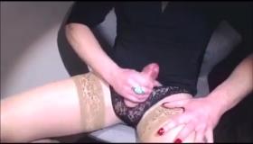Beautiful Redheaded Tranny Doing A Cock