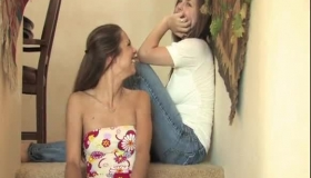 Trisha And Tara Kissing And Feasting On Holly