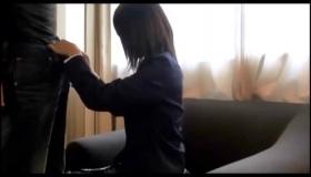 Sweet Japanese Schoolgirl Gets Her Anal Dildo Stuck Against Her