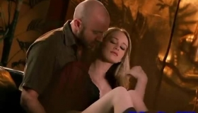 Luscious Euro Blonde Fucked On The Floor By The Stepdaddy