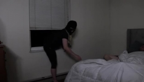 Hot Burglar Tapped On The Wall, By Her Nerdy Daughter