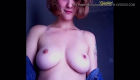 Nice Hairy Teen Titty Shows Cunt