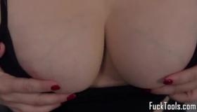 Busty Blonde Rubs Black Cock