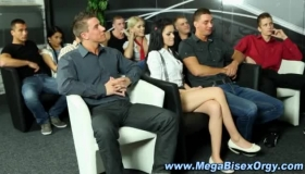 Group Of Horny Femdoms Toyed While Picking Whores