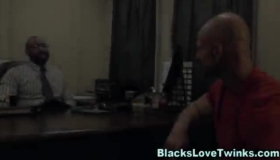 Bald, Black Guy Is Fucking His Best Friend's Wife And Getting Fresh Cum All Over His Face