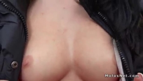 Sexy Euro Brunette Is Getting Fucked On The Stage During A Hot Sex Afterparty
