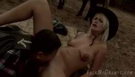 A Horny Grandpa Is Fucking A Slutty Babysitter Because He Likes Her Ass More Than Anything Else