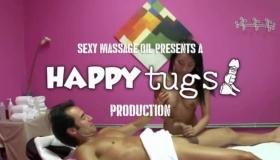 Busty Tranny Tugs Guy In A Gang Bang Orgy
