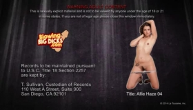 Allie Haze Likes To Feel Cum All Over Her Face And Don't Even Even Mind Sharing It