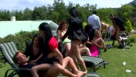 Strip Party Porn Babes Taking A Pecker In Their Asses