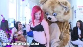 Tattooedbered Bear In Bear Suit Screws On Tople