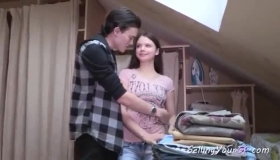 Russian Teen Brunette, Kendra Lust Likes To Have Steamy Interracial Sex, On The Sofa