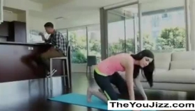 Hot Yoga Babe Takes It In The Ass As Well