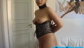 Hot College Chick Gets Shaved Cunt Pumped