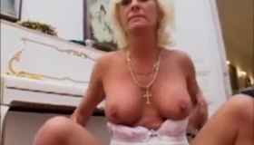 Mature Blonde Is Getting Doublefucked, By Two Guys, While Her Husband Is Out Of Town