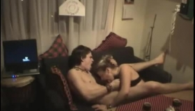 Horny Couple Was Caught On Tape While They Were Making Love, In The Living Room
