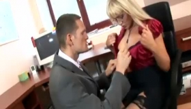 Busty Secretary In Nylons Having Rough Sex