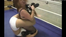 Busty Brunette Wrestling Pornstar Teaches Blonde Lesson