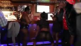 Light Haired Ebony In Blue Panties